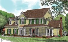 Discover the Pennridge Victorian Farmhouse that has 4 bedrooms, 3 full baths and 1 half bath from House Plans and More. See amenities for Plan House Plans And More, Dream House Plans, Small House Plans, House Floor Plans, Farmhouse Plans, Farmhouse Design, Farmhouse Style, Farmhouse Kitchens, Southern House Plans