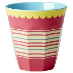 Striped Cup Melamine Cup by Rice DK, Offerd by Modern Rascals. Fun, Durable Kids Cups and Dishes. Melamine, Kids Dishes, Kids Plates, Shops, Candy Stripes, Baby Kind, Jar Storage, Stripe Print, Safe Food