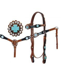 Showman Headstall and Breast Collar Set - #5059X