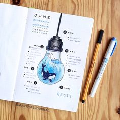 30 Under the Sea Themed Bullet Journal Layout Ideas - Bullet Journal School, Bullet Journal Inspo, Bullet Journal Aesthetic, Bullet Journal Notebook, Bullet Journal Ideas Pages, Bullet Journal Spread, Bullet Journal Layout, Bullet Journals, March Bullet Journal