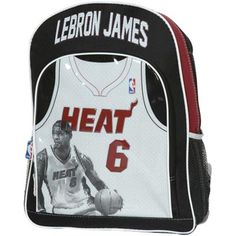 LeBron James Youth Miami Heat Jersey Backpack