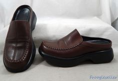 Dansko womens mules clogs shoes US 8 EUR 38 brown leather #Dansko #Mules #Casual #womensfashion