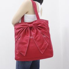 Shipping Promo - RED Canvas Women Tote, Shoulder Bag, School Bag,... ($42) ❤ liked on Polyvore