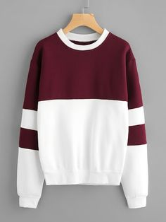 To find out about the Color Block Sweatshirt at SHEIN, part of our latest Sweatshirts ready to shop online today! Hoodie Sweatshirts, Sweatshirts Online, Sweatshirt Outfit, Sweater Cardigan, Sweat Style, Fashion Clothes, Fashion Outfits, Cool Hoodies, Pullover