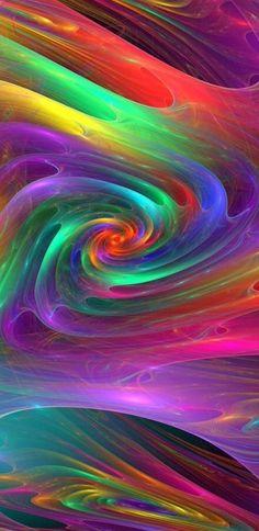 Rainbow colors swirls of the Spirit.
