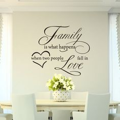 Mercurymall® Stickers muraux la famille family si what happen Autocollant Papier Stickers Mural Réutilisable Pour Chambre Salon: Amazon.fr: Cuisine & Maison
