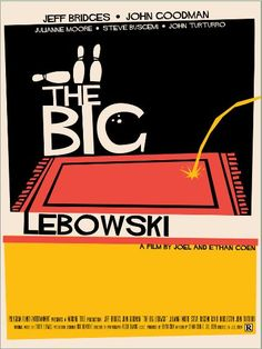 """Ace alternative poster for The Big Lebowski- """"All the Dude wanted was his rug back..."""""""