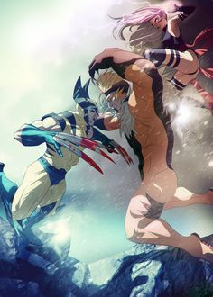 Wolverine and Psylocke vs. Sabretooth by Edgy |エッジー