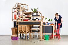 Cobbled (hastily?) together furniture