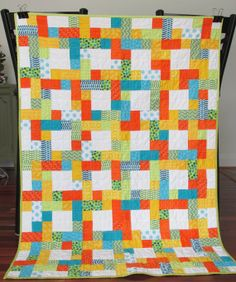 Scrappy colorful patchwork baby toddler boy by ShaShaLaRueQuilts, $130.00