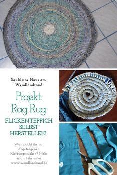 Was kann man mit alten, zerschlissenen KLeidungsstücken noch anstellen? Upcycling von Altkleidern =) Crochet Vest Pattern, Crochet Patterns, Hallo Winter, Reuse, Free Crochet, Mandala, Rag Rugs, German, Sustainable Ideas