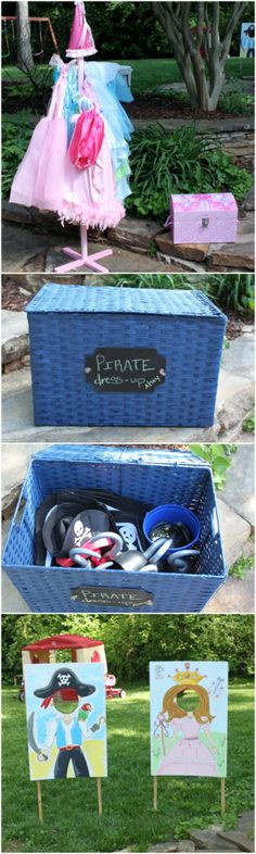 Pirate & Princess Twins Dress-Up Party...also great for brother/sister siblings with close birthdays