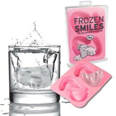 Frozen Smiles we should have these ice trays at the office lol