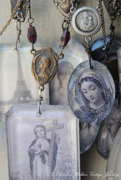 """""""Honoring Life Through Jewelry"""": Art In The Park. Cute Jewelry, Jewelry Art, Vintage Jewelry, Jewelry Design, Handmade Jewelry, Religious Icons, Religious Art, Craft App, Art In The Park"""