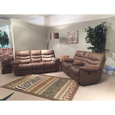 Sweltery Pecan Sectional W/ 2 Motion Recliners | Motion Sectionals |  Discount Direct Furniture And Mattress Gallery 1299.99 | Sectionals |  Pinterest ...