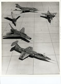 Century series fighters F 100, F 101. 102 104 and F 105