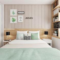 Mais detalhes deste quarto tão aconchegante que adoramos desenvolver para um jovem casal! 🍃😌#domumarquitetura
