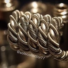 Went ahead and wrapped that wire from before...not as clean as I wanted..specs: clapton 26g/36g twisted with 24g then double helix with 2 claptons 32g/40g #vape #vaping #vapelife #vapelyfe #vapeporn #vapeskills #coillife #coillyfe #coilporn #coilsmith #coilarchitect #coiladdict #dripclub #dripgirls #nichrome #nicebuilds #subohm #sexybuilds #sickbuilds #subohmclub #jerseyvapor #jerseycoilcouncil #masterbuilder #probuilder @coilporn @nice__builds @cleanbuilds @subohmclub @intricatevapebuilds…