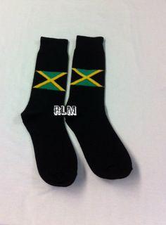 Reggae Land Muzik Store - Jamaica Flag   Crew Socks (Black)  447fad8abb60