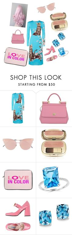 """LOVE IN COLOR with Dolce & Gabbana :-):-):-):-)"" by meriima-aljic ❤ liked on Polyvore featuring Dolce&Gabbana, So.Ya, Bloomingdale's, Prada and BillyTheTree"