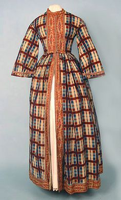 Wool Plaid Robe, c. 1850 October 24, 2004 - Session 2 Lot 438 - $180.00  Whitaker Auction