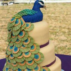 Imagem de cake and peacock