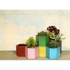 honeycomb pots...love!