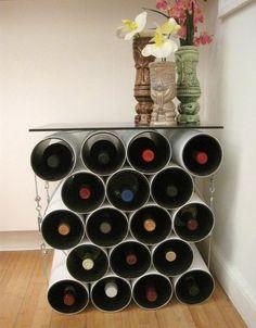 DIY  leuk wijnrek  INSPIRATION  Pinterest  Wijnkelder