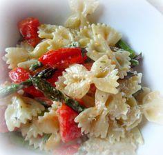 roasted tomato and asparagus salad