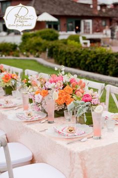 La Tavola Fine Linen Rental: Watercolors Orchid Napkins with Brooklyn Nude over Nuovo White   Event Planning: Platinum Pro
