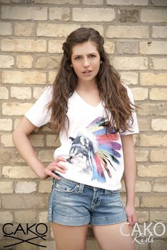 #CAKO #Ladies #Indian #Wolf #print #T #Tee #Lookbook #Fashion