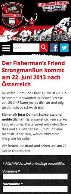 Heute ging unser neues Projekt im responsive Webdesign online: http://www.strongmanrun.at/  Fisherman`s Friend StronmanRun 2013 in Obertauern / Salzburg / Österreich / Austria