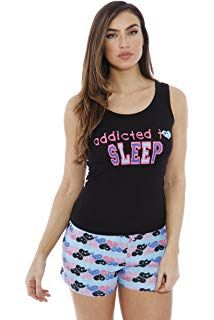 716facfd6b36 Just Love 100% Cotton Women Sleepwear Tank & Short Pajama Sets Plus Size  Sleepwear,