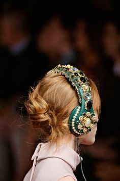 Dolce & Gabbana Fall 2015 headphones