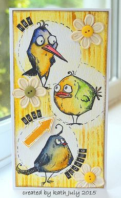 Kath's Blog......diary of the everyday life of a crafter: The Tale of the Bird Crazy Catastrophe...