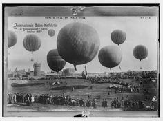 Balloon race - Berlin - 1908