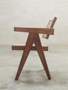 Office Chair (V leg) - Natural Teak finish
