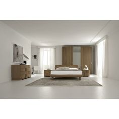 Trendy Walnut - Contemporary Italian Bed with Lights - 2499.0000