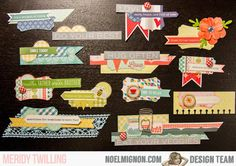 """NoelMignon.com Layouts and Projects: DIY """"Life Lesson"""" Embellishments-""""Country Life"""" Classic Kit"""