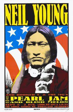 Frank Kozik's silkscreen Neil Young/Pearl Jam/Blind Melon The Gorge and Portland Poster. Neil Young, Tour Posters, Band Posters, Music Posters, Event Posters, Pearl Jam Posters, Vintage Concert Posters, Portland, Graffiti