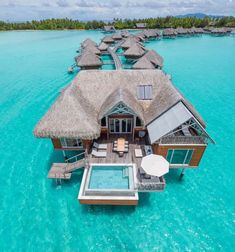 Brando Suites Bora Bora at the InterContinental Bora Bora Resort & Thalasso Spa, French Polynesia Nothing beats the overwater bungalow when it comes to oceanside accommodation. Get ready for pangs of extreme wanderlust. Honeymoon Vacations, Vacation Places, Vacation Destinations, Dream Vacations, Vacation Spots, Places To Travel, Places To Visit, Vacation Movie, Bali Indonesia