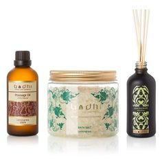 Lemongrass Lovers Spa Set - Lemongrass Reed Diffuser, Luxury Bath... ($69) ❤ liked on Polyvore featuring clear and bodhi