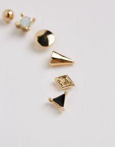 Pack boucles d'oreilles maxi pin - Accessoires - Bershka Belgium