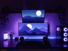 RGB-ified Computer Desk Setup, Gaming Room Setup, Pc Desk, Pc Setup, Studios Architecture, Microsoft Surface, The World's Greatest, Streamers, Game Room