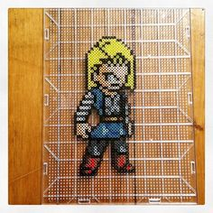 DBZ Android 18 perler beads by mastablasta3