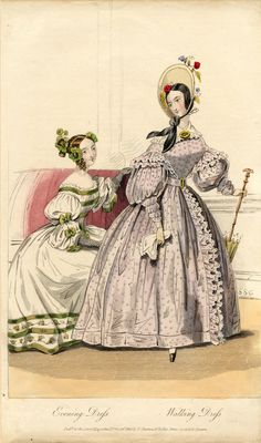 Evening and walking dresses 1836