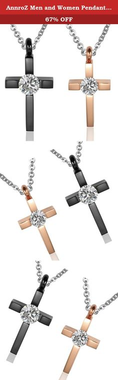 AnnroZ Men and Women Pendant Necklace Stainless Steel Cross Black Rose Gold. Our product: Simple,elegant and fashion;Unique luxury and bright personality. No one will reject a pretty jewelry and its sincere meaning: I want to firmly happiness, and this is the happiness what I want. The best gifts for favorite people: +++ Send to yourself for your work hard; +++ Send to lovers for your love; +++ Send to friends for your wishes; Best gifts, best outfit accessories. AnnroZ Jewelry,you…