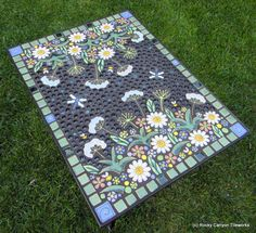 Handmade Mosaic Table by rockycanyontileworks via Etsy.