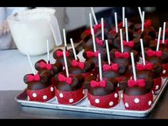 Here's some fabulous video tutorials on making Disney treats as well as lots of party inspiration!