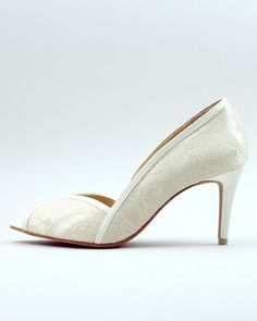 Ivory Lace Wedding Shoes Ivory Lace Bridal Shoes by ammiejoyce, $68.00